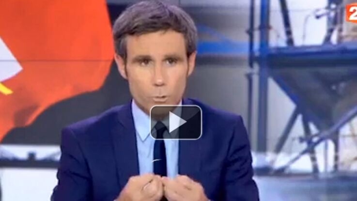 Se pensant hors antenne, David Pujadas pète les plombs en direct