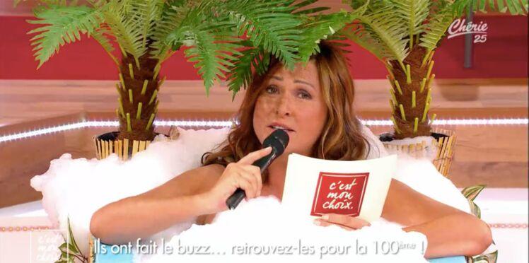 (Vidéo) Evelyne Thomas présente C'est mon choix nue dans une baignoire !