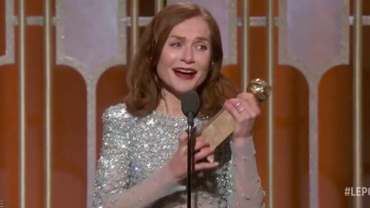 VIDEO : l'émotion d'Isabelle Huppert, Golden Globe de la meilleure actrice