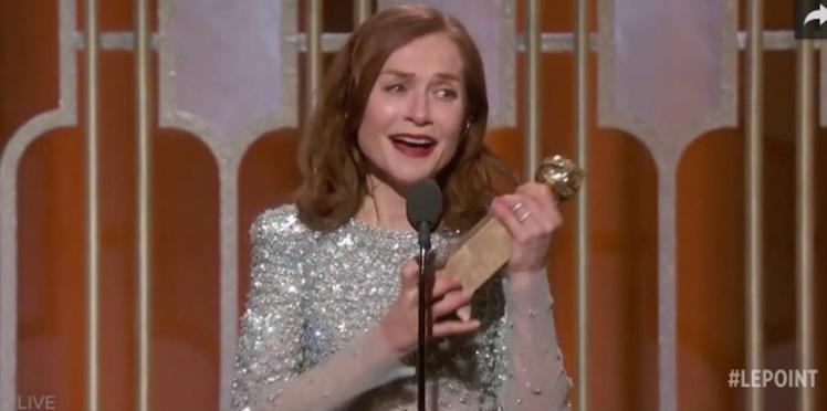 VIDEO : l'émotion d'Isabelle Huppert, Golden Globe de la meilleure actrice