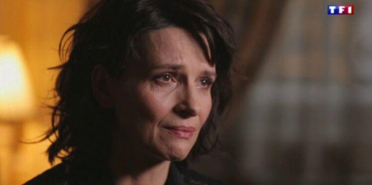 """Juliette Binoche en larmes dans """"Sept à Huit"""" (vidéo)"""
