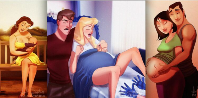 Les princesses Disney en pleine maternité