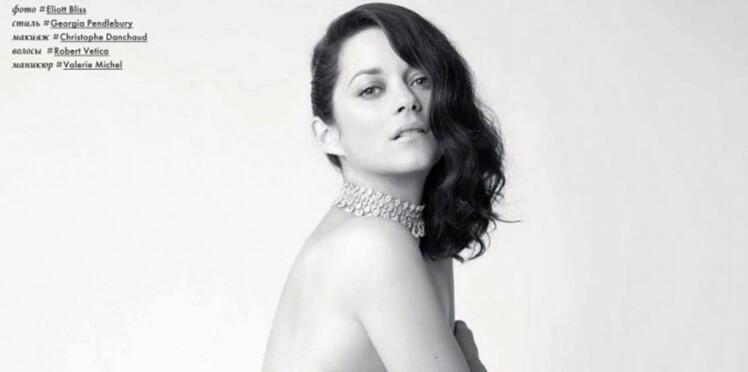Marion Cotillard pose entièrement nue pour un magazine russe