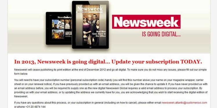 Newsweek lance sa dernière édition papier avant de suivre sa route digitale