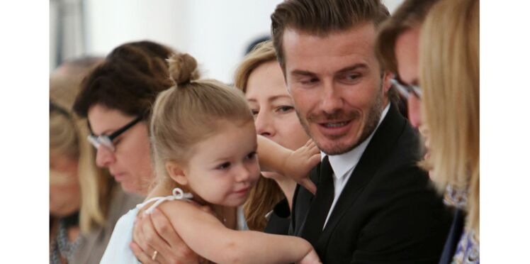 Photos : David Beckham, compètement gaga de sa fille