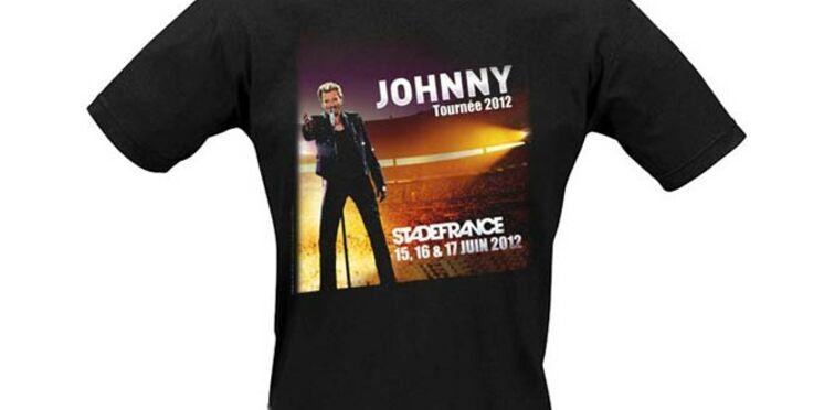 Un t-shirt en guise de billet pour le concert de Johnny Hallyday