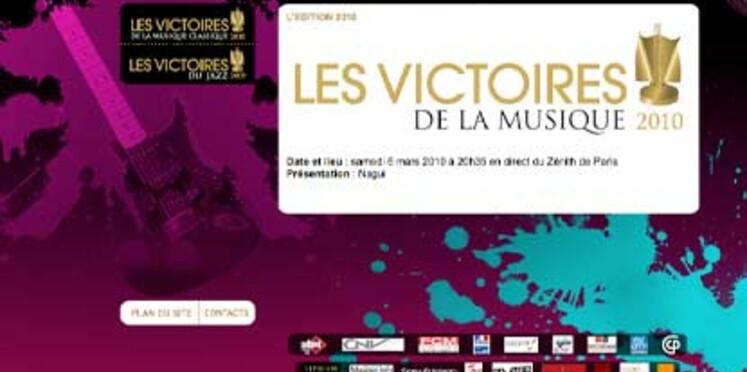 Victoires de la muisque 2010 : les nominés sont...
