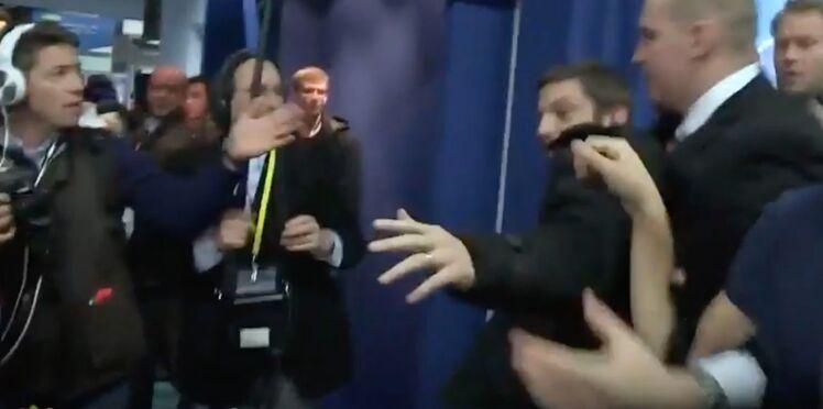 Vidéo : un journaliste de Quotidien sorti avec violence par les gardes du corps de Marine Le Pen
