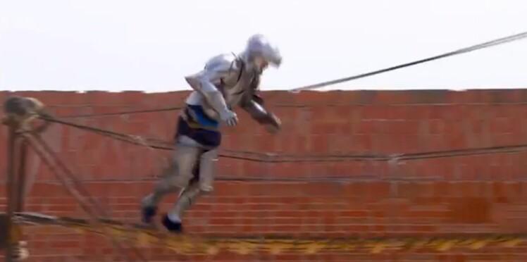 Vidéo : l'incroyable chute de Samuel Etienne dans Fort Boyard