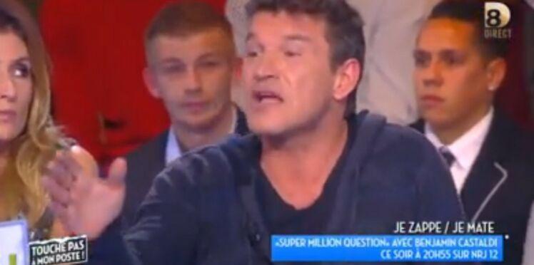 Vidéo: Benjamin Castaldi s'emporte sur le plateau de Touche pas à mon Poste