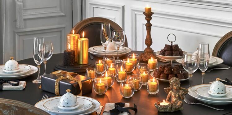 chic ma d co de table pour no l femme actuelle le mag. Black Bedroom Furniture Sets. Home Design Ideas