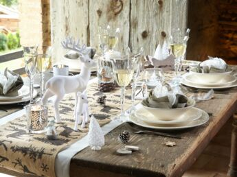 Ma Dco De Table Pour Un Nol Au Naturel With Noel Deco Table