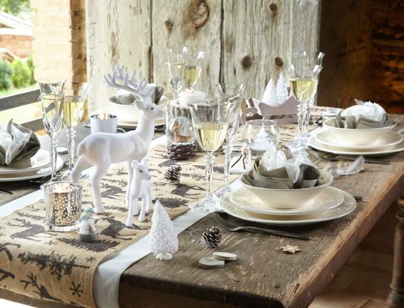 Une table de Noël au naturel