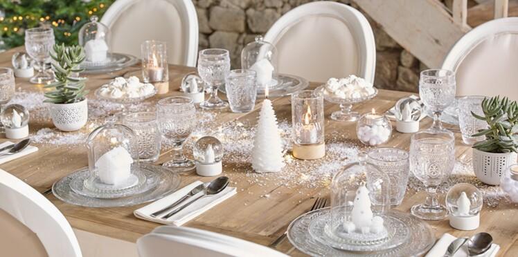 Table De Noel Blanche