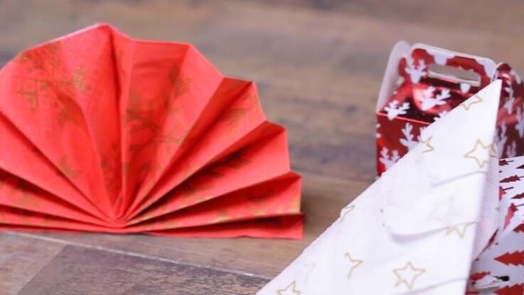 Deux pliages de serviettes express pour Noël