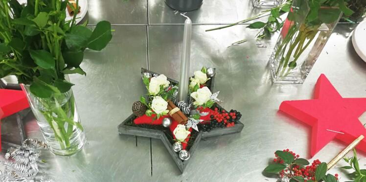 DIY de Noël : un centre de table avec des fleurs de saison