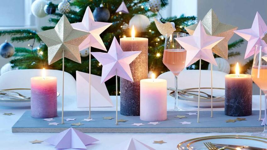 DIY de Noël : un centre de table en bois et papier