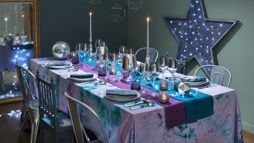 DIY de Noël : créer une déco de table en teinture