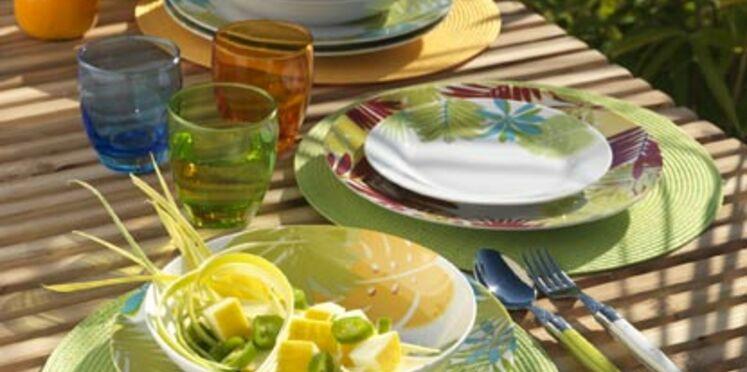 Ma table d'été, fraîche et colorée
