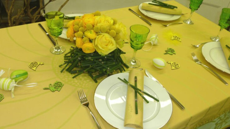 Pâques : une déco de table facile
