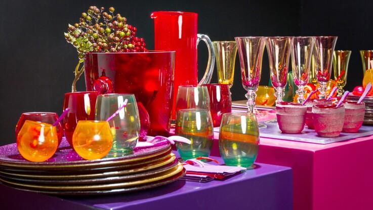 Un buffet de fête Color Block