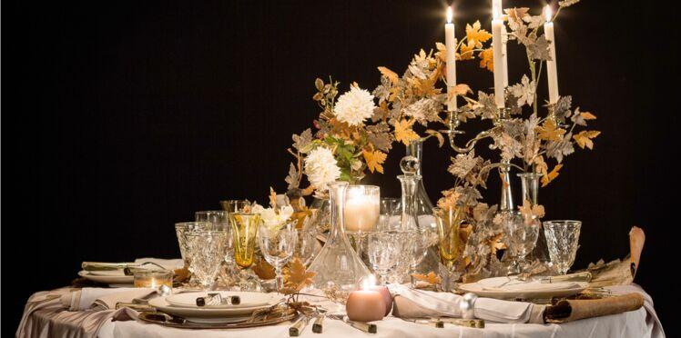 Une table de fête très nature
