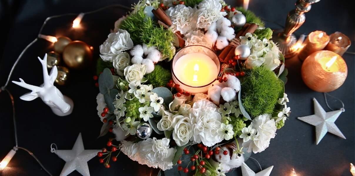 Vidéo : une couronne végétale pour ma table de Noël