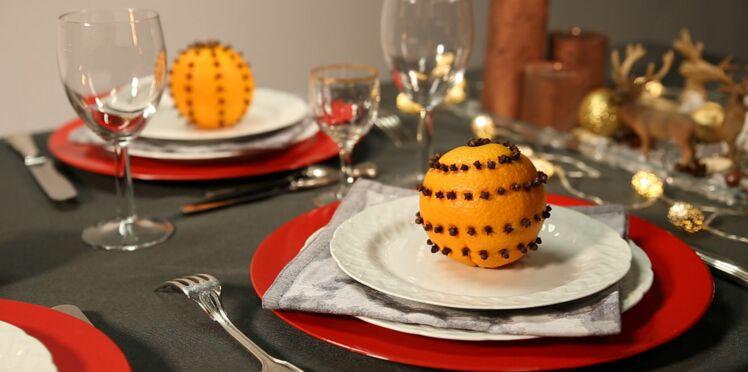 Vidéo de Noël : un agrume parfumé en cadeau d'assiette