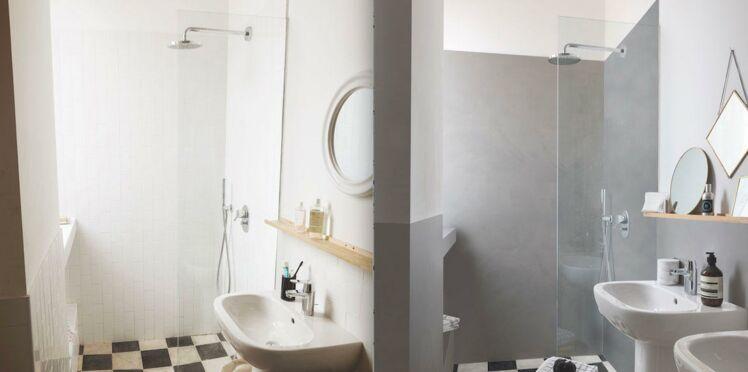carrelage mural comment le recouvrir avec un effet b ton cir femme actuelle le mag. Black Bedroom Furniture Sets. Home Design Ideas