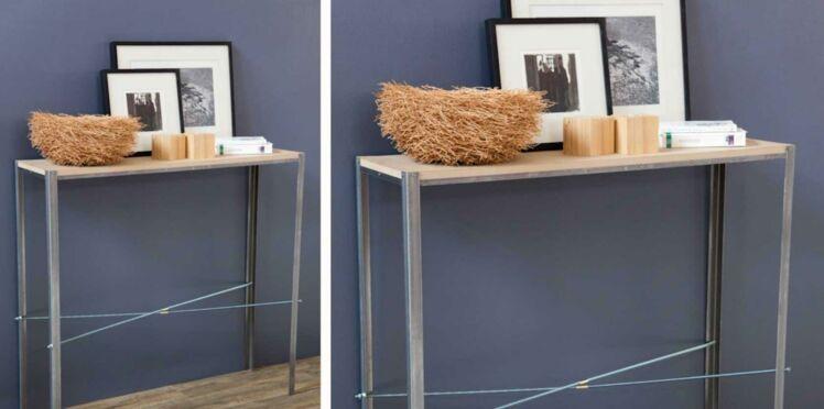 Déco industrielle : fabriquer une console en bois et métal