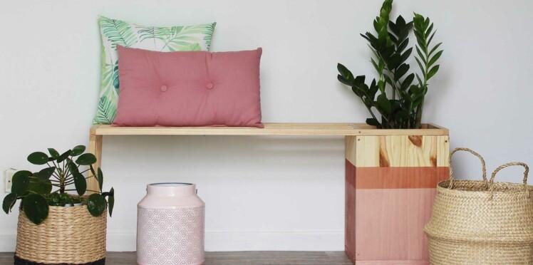 DIY : un banc en bois avec une jardinière intégrée