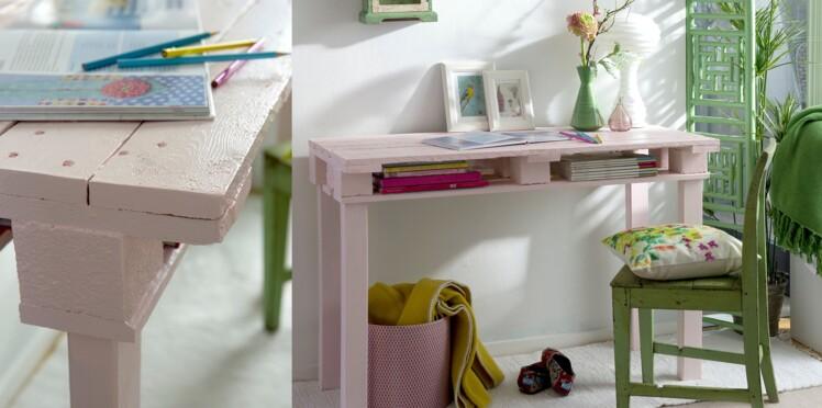 DIY : un bureau en palettes