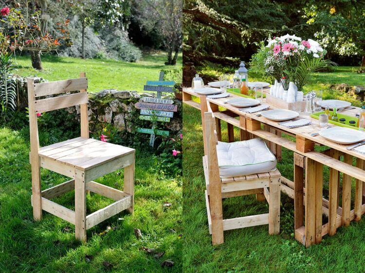 DIY : comment fabriquer une chaise de jardin en palettes ? : Femme ...