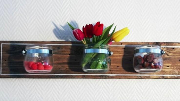 DIY : une étagère avec des bocaux