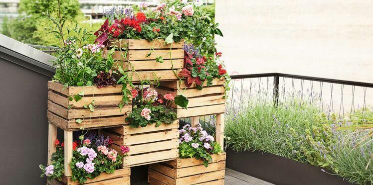 DIY : fabriquer un brise-vue végétal avec des cagettes