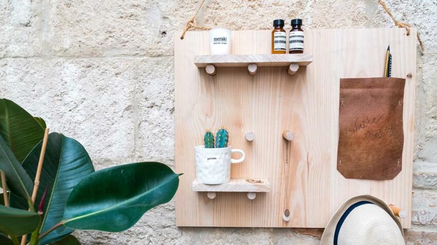 DIY de rentrée : un rangement mural en bois