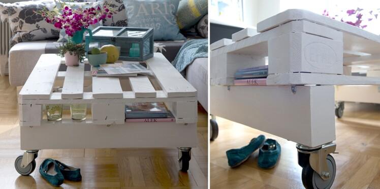 Diy Une Table Basse Mobile En Palettes Femme Actuelle Le Mag