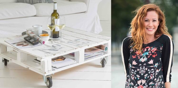 DIY : la table basse-palettes de Sophie Ferjani