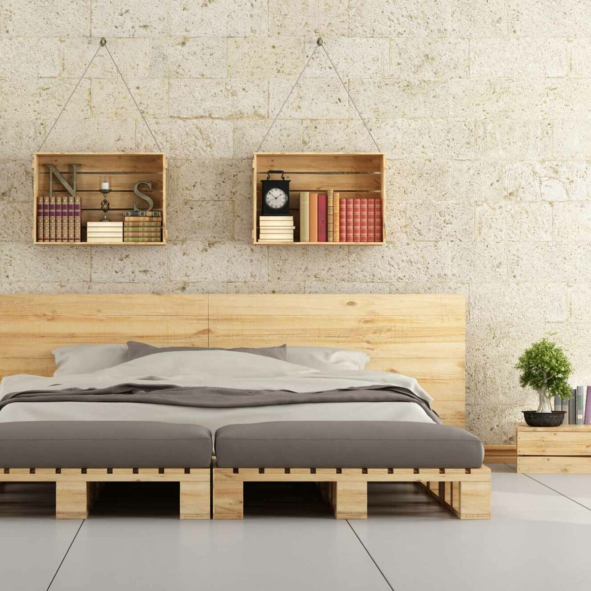 Fabriquer Un Lit En Bois lit en palettes : comment le fabriquer ? : femme actuelle le mag