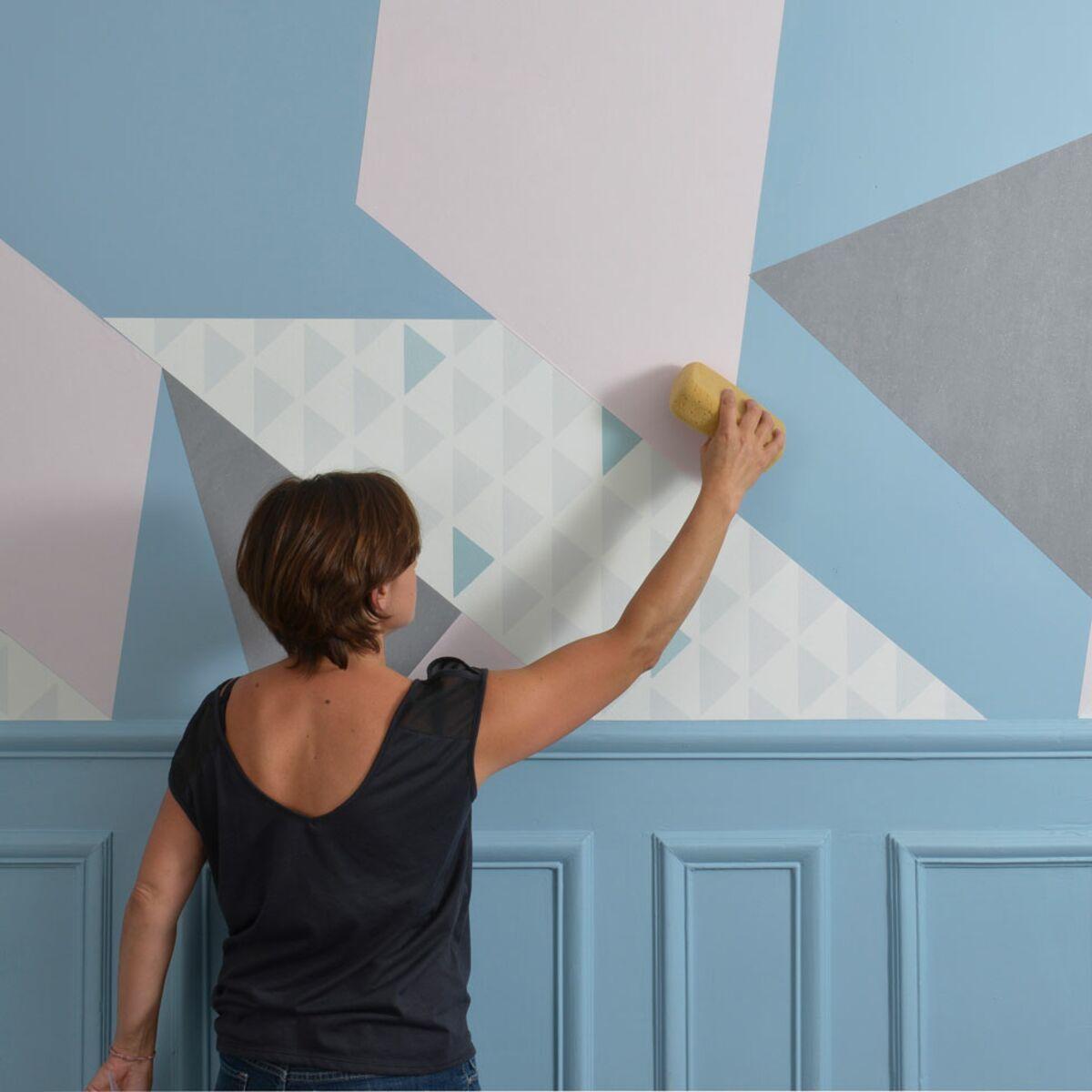 Spatule Décoller Papier Peint papier peint : créer un tableau mural design : femme