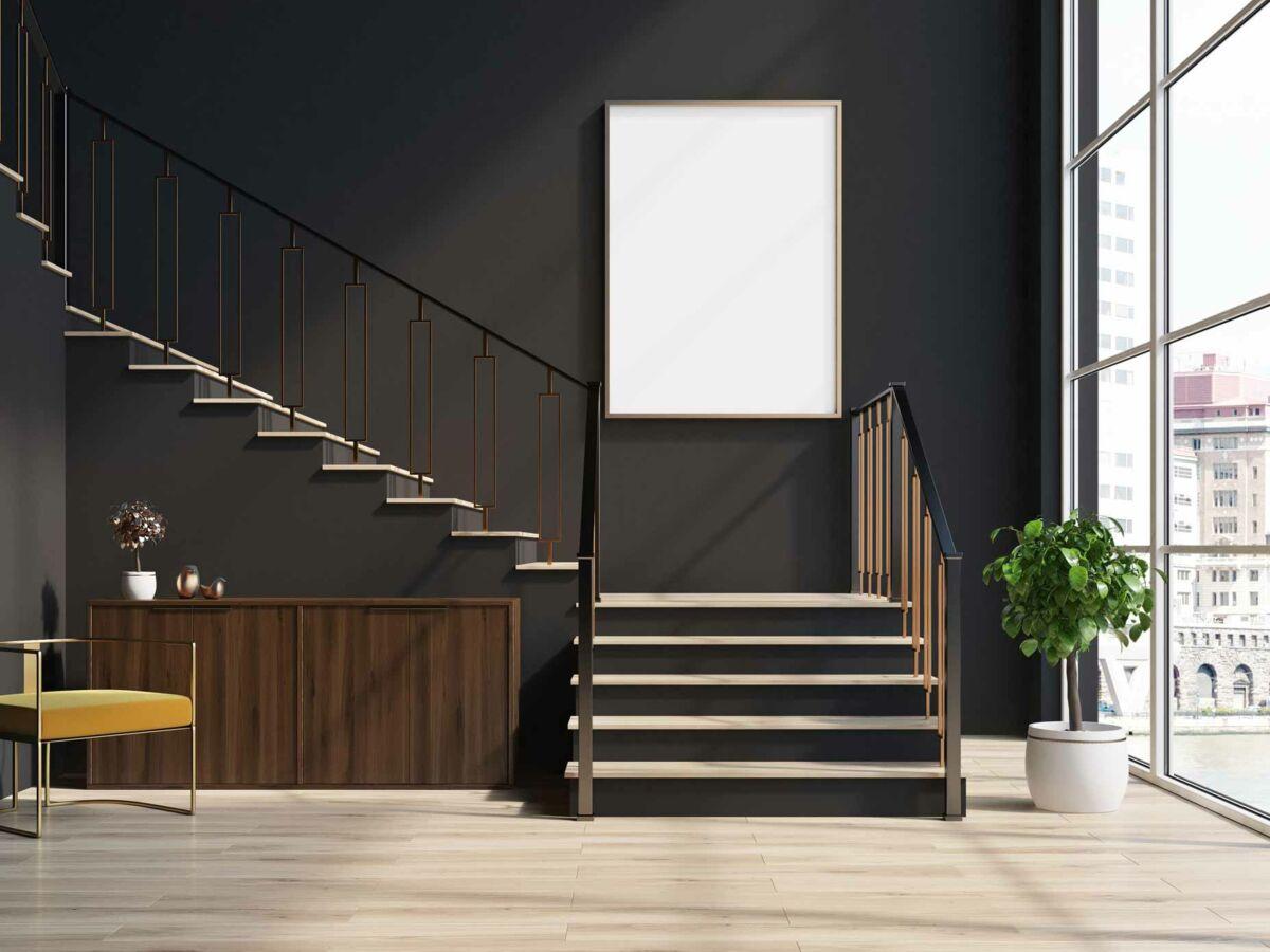 Peinture Escalier Noir Mat peinture de l'escalier : comment s'y prendre ? : femme