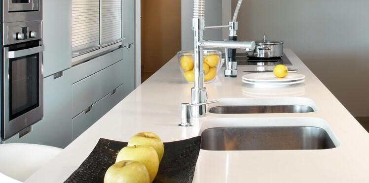 plan de travail de cuisine les nouveaux mat riaux femme actuelle le mag. Black Bedroom Furniture Sets. Home Design Ideas