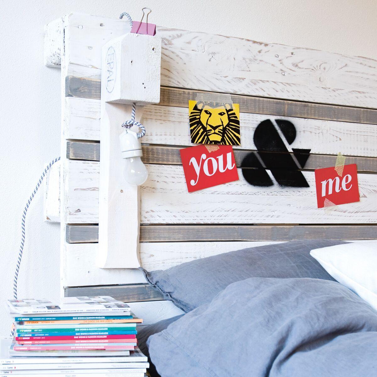 Comment Fabriquer Sa Tete De Lit récup : comment fabriquer une tête de lit en palette