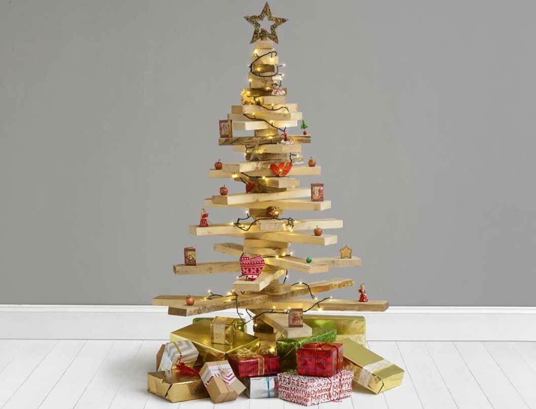 Récup : un sapin de Noël avec du bois de palette : Femme Actuelle Le MAG