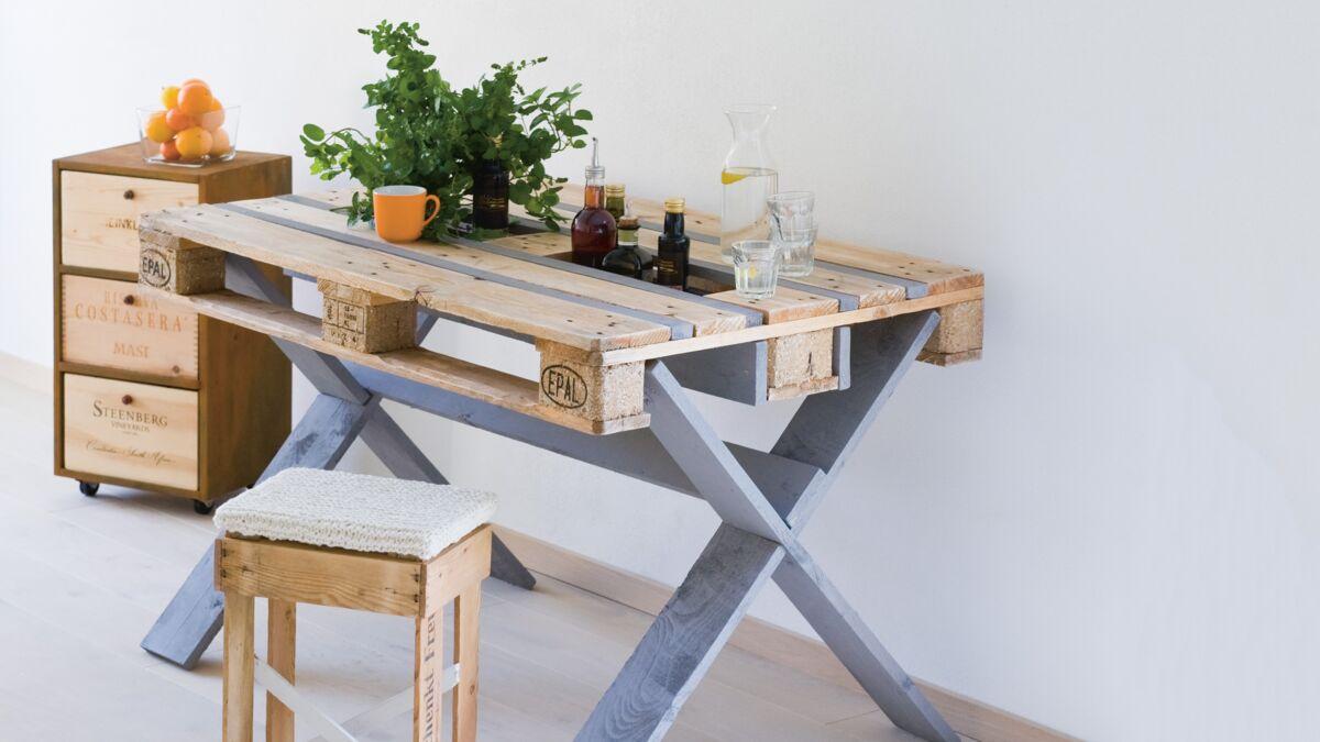 Lit Pour Chien Palette récup : une table en palette de bois : femme actuelle le mag