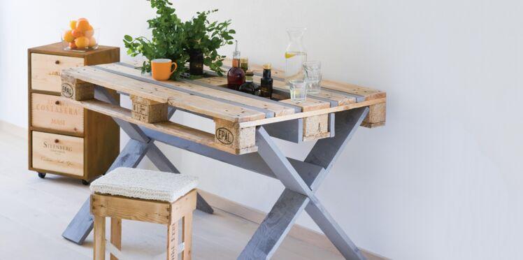 Récup : une table en palette de bois