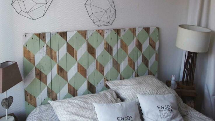 Récup : une tête de lit design en bois : Femme Actuelle Le MAG