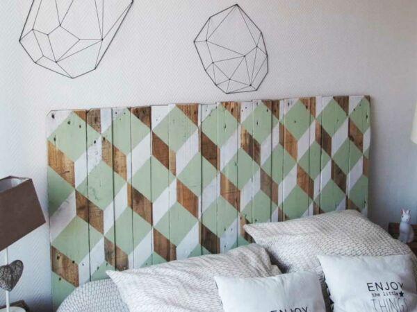 rcup une tte de lit design en bois - Tete De Lit Palette