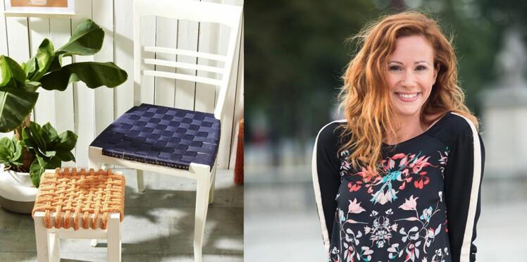 Une chaise tressée par Sophie Ferjani