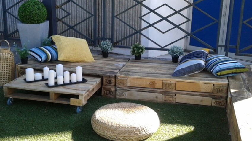 Meubles en palettes : un salon de jardin à petit prix